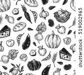 kitchen seamless pattern.... | Shutterstock .eps vector #519002965