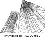 architectural drawing.... | Shutterstock .eps vector #519003562