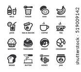 set of black flat symbols about ... | Shutterstock .eps vector #519009142