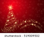 christmas and new year red... | Shutterstock .eps vector #519009502