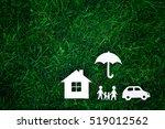 family values or family  house  ... | Shutterstock . vector #519012562
