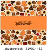thanksgiving greeting card or... | Shutterstock .eps vector #519014482