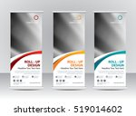 roll up banner stand template... | Shutterstock .eps vector #519014602