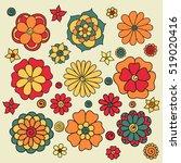 zentangle abstract flowers.... | Shutterstock .eps vector #519020416