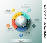 infographic design template  5... | Shutterstock .eps vector #519022498