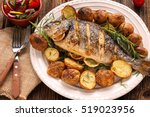 Grilled fish with roasted...