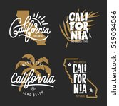 california related t shirt... | Shutterstock .eps vector #519034066