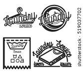 vintage laundry emblems | Shutterstock .eps vector #519037702