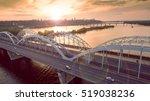 automobile and railroad bridge...   Shutterstock . vector #519038236