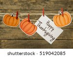happy thanksgiving greeting... | Shutterstock . vector #519042085