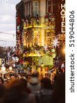 colorful christmas market... | Shutterstock . vector #519044806