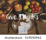 thanksgiving blessing... | Shutterstock . vector #519050962