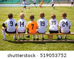 young football players. young... | Shutterstock . vector #519053752