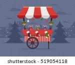 christmas market . flat design... | Shutterstock .eps vector #519054118