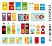vending machine product items... | Shutterstock .eps vector #519054508