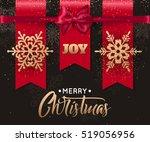 elegant christmas background...   Shutterstock .eps vector #519056956