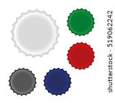 colorful bottle caps  isolated  ... | Shutterstock .eps vector #519062242