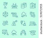 data analysis icons  thin line  ... | Shutterstock .eps vector #519072955