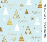 merry christmas and happy new... | Shutterstock .eps vector #519074146