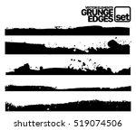set of grunge ink stroke lines...   Shutterstock .eps vector #519074506