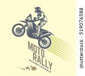 moto rally. sport emblem | Shutterstock .eps vector #519076588