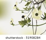 flowering dogwood backdrop with ... | Shutterstock .eps vector #51908284