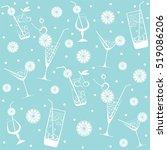 cocktail drinks seamless... | Shutterstock .eps vector #519086206