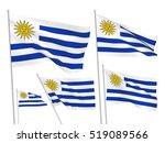 uruguay vector flags set. 5... | Shutterstock .eps vector #519089566