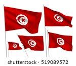 tunisia vector flags set. 5...   Shutterstock .eps vector #519089572