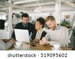 business people in smart casual ... | Shutterstock . vector #519095602