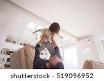 cheerful young boy having fun... | Shutterstock . vector #519096952