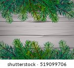 top view of christmas tree on... | Shutterstock . vector #519099706