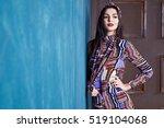 beautiful sexy young woman... | Shutterstock . vector #519104068