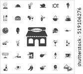 restaurant icon on the white background. restaurant set of icons. | Shutterstock vector #519106276