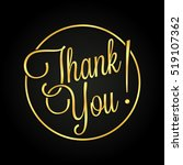 Thank You Golden Lettering For...