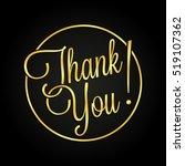thank you golden lettering for... | Shutterstock .eps vector #519107362