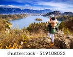 family travel europe. mother... | Shutterstock . vector #519108022