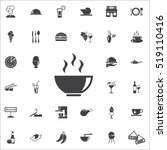 vector soup icon on the white... | Shutterstock .eps vector #519110416