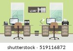 workplace of office workers on... | Shutterstock .eps vector #519116872