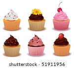 cup cakes | Shutterstock .eps vector #51911956