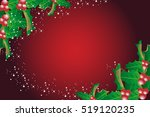 red christmas background with... | Shutterstock .eps vector #519120235