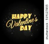 abstract golden happy valentine'... | Shutterstock .eps vector #519127855