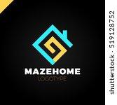abstract house logo design... | Shutterstock .eps vector #519128752