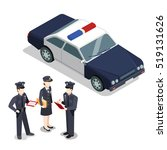 flat isometric city policemen... | Shutterstock .eps vector #519131626