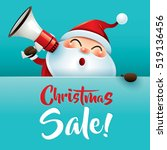 christmas sale  santa claus... | Shutterstock .eps vector #519136456