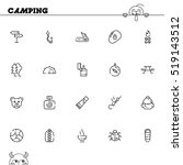 camping flat icon set.... | Shutterstock .eps vector #519143512