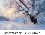 winter landscape with old... | Shutterstock . vector #519148696