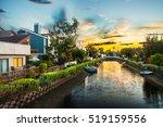 houses on the venice beach...   Shutterstock . vector #519159556
