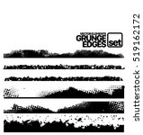 set of grunge ink stroke lines... | Shutterstock .eps vector #519162172