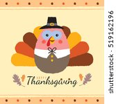 happy thanksgiving or give... | Shutterstock .eps vector #519162196